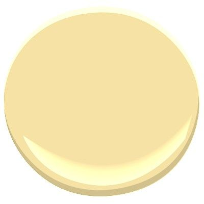 Benjamin Moore Hawthorne Yellow. It literally disappears when painted on my already yellow walls, but since it has grey undertones
