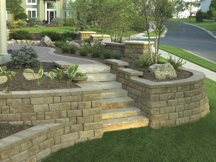 592 best images about retaining walls on pinterest on retaining wall blocks id=70600