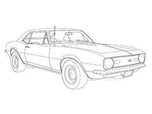 How to Draw a 67 Chevy Camaro | corvette & camaro