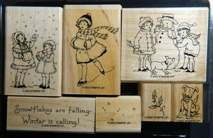 Retired Stampin Up Christmas Stamp Set WINTER IS CALLING