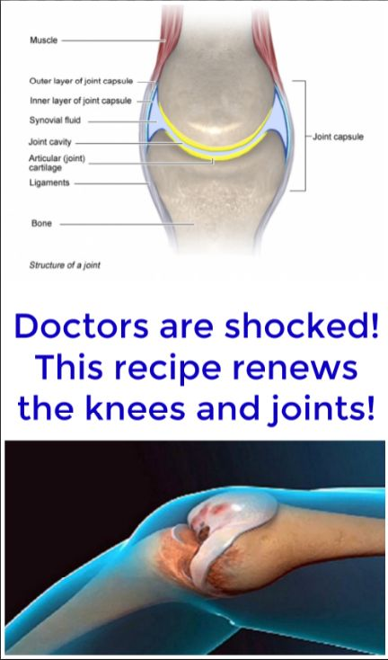 Image result for DOCTORS CANNOT BELIEVE IT! THE FOLLOWING RECIPE MAKE BETTER THE KNEES AS WELL AS THE JOINTS!
