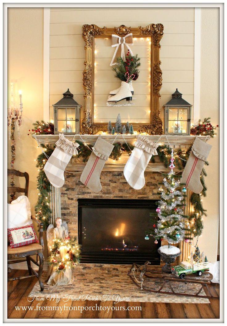 1000 Ideas About Christmas Mantel Decor On Pinterest