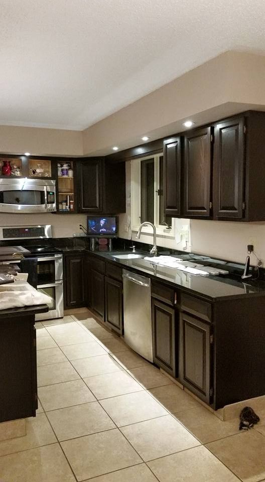java gel stain applied to honey oak cabinets making a house a home pinterest oak cabinets on kitchen cabinets java id=32601