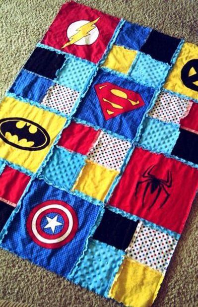 Superhero Quilt-I love this!