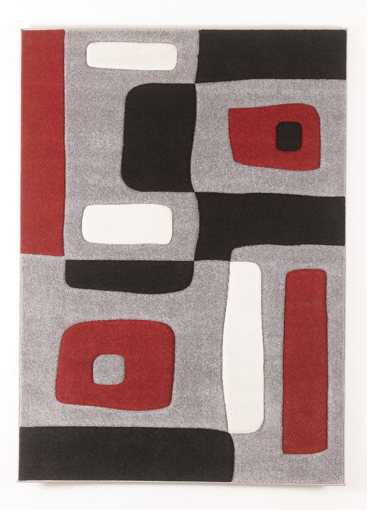 Contemporary Area Rugs Geo Red Medium Rug By Signature Design By Ashley Furniture