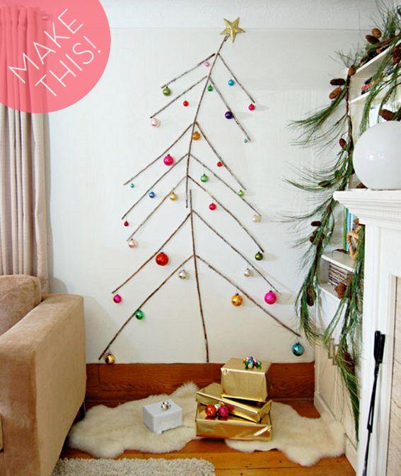 Make It: A Space-Saving DIY Twig Christmas Tree!:
