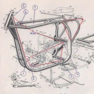 manx norton motorcycle frame dimensions  Google Search