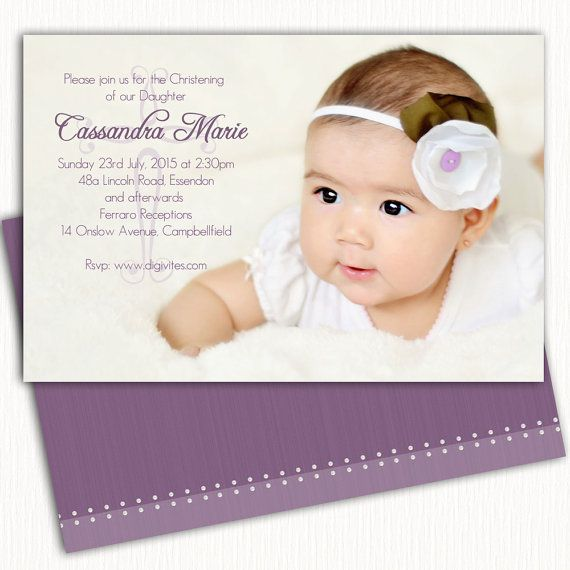 Invitation Card Layout Baptism