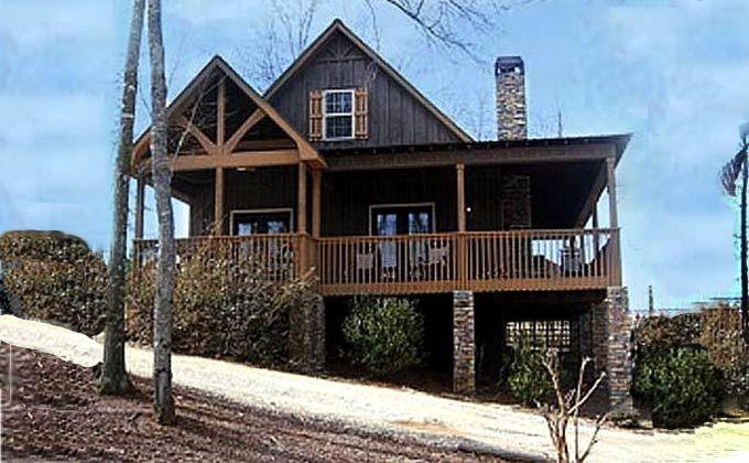 2 2 Wrap Porch Log Around Floor Br Ba Cabin Plans