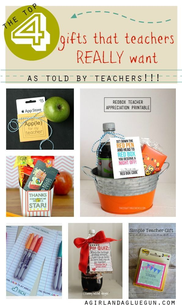 the top 4 gifts that teachers really want–told BY
