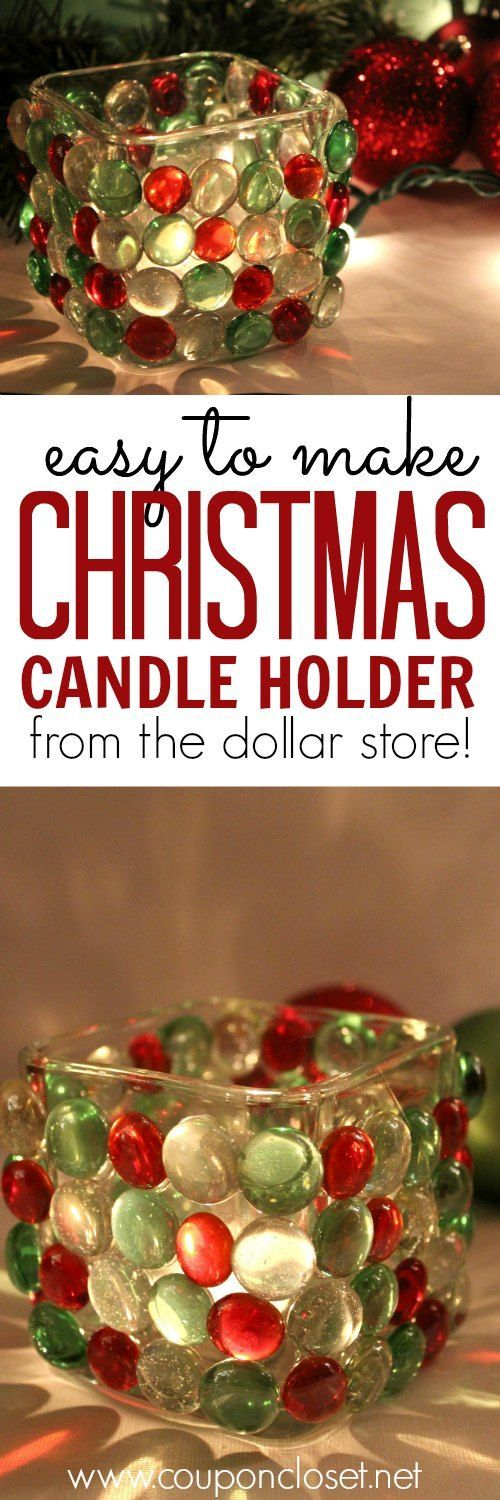 Oh yes! You really can make this beautiful Christmas Candle Holder from items at t