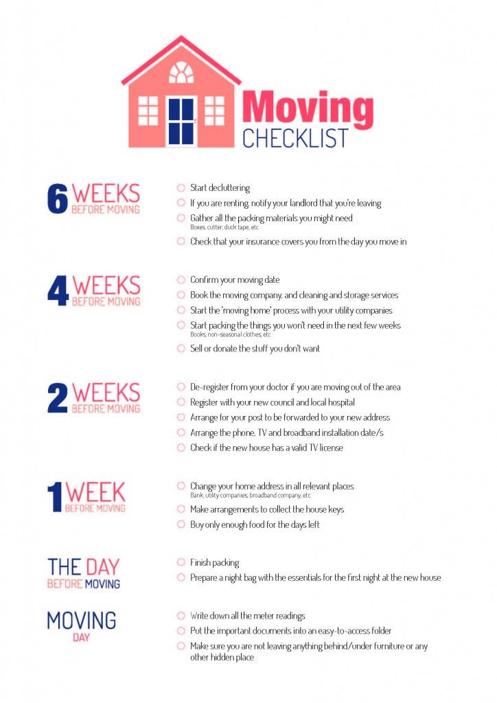 Checklist for moving house moving made easy pinterest