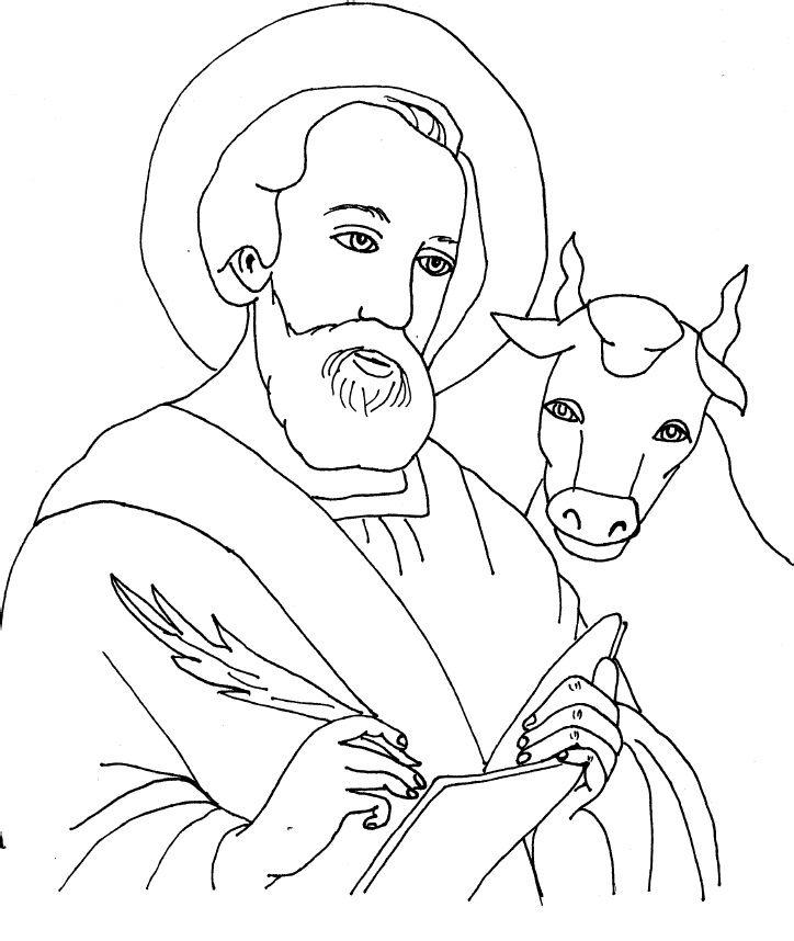 St Luke Coloring Sheets Evangelist Project Pinterest