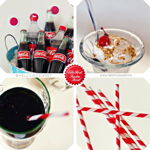Sweet Parties: $100 Budget: Retro 50s Coke Float Social – Blog – Hello My Sweet