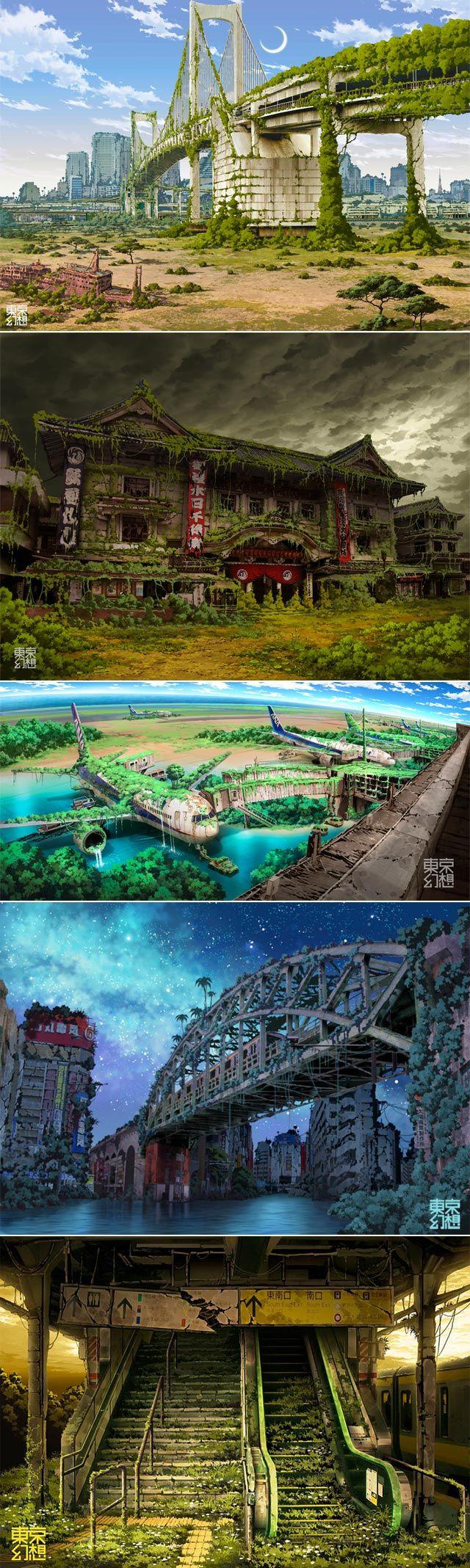 Post-apocalyptic Tokyo  www.pinterest.com…