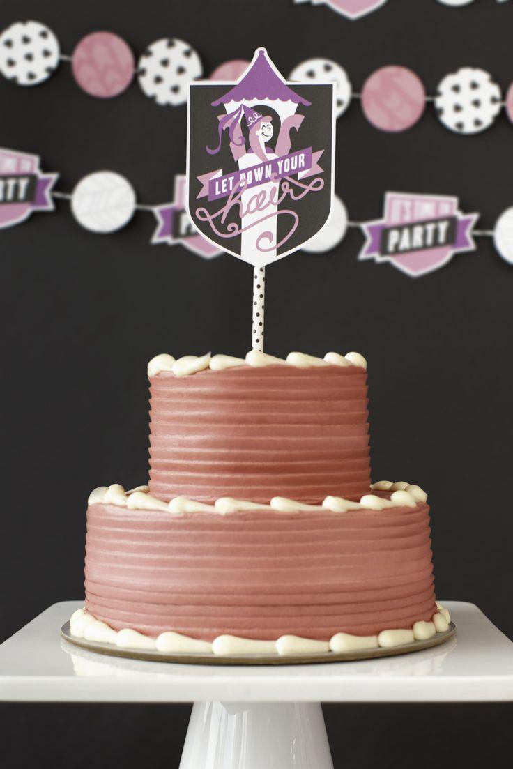 Cricut Print Then Cut Princess Party Cake Topper Make It