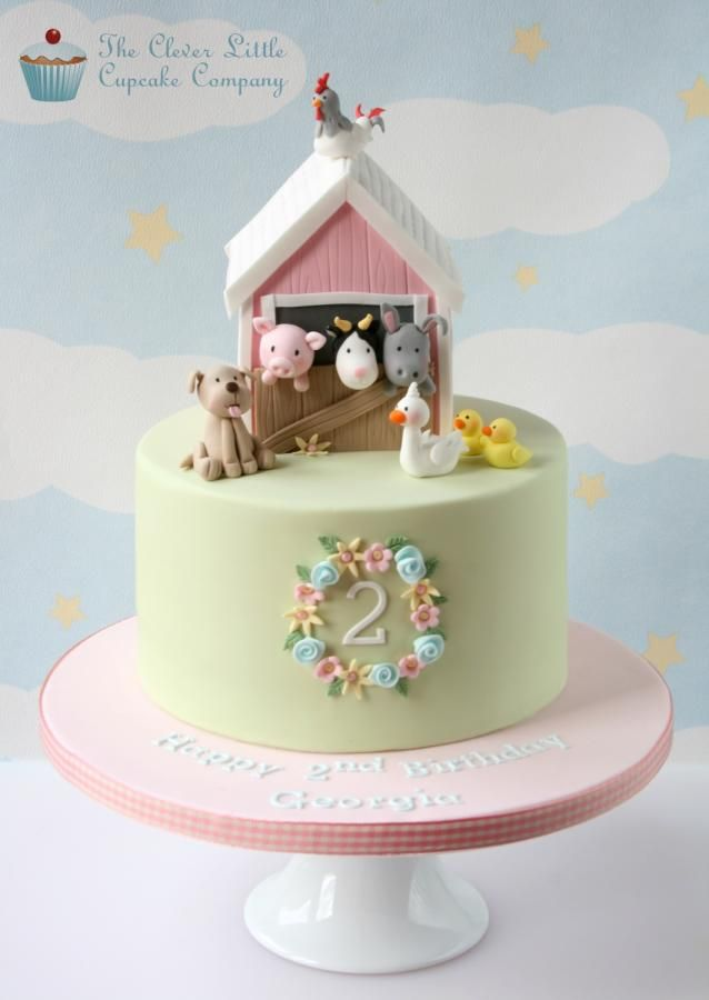 Pink Barn Cake By The Clever Little Cupcake Company