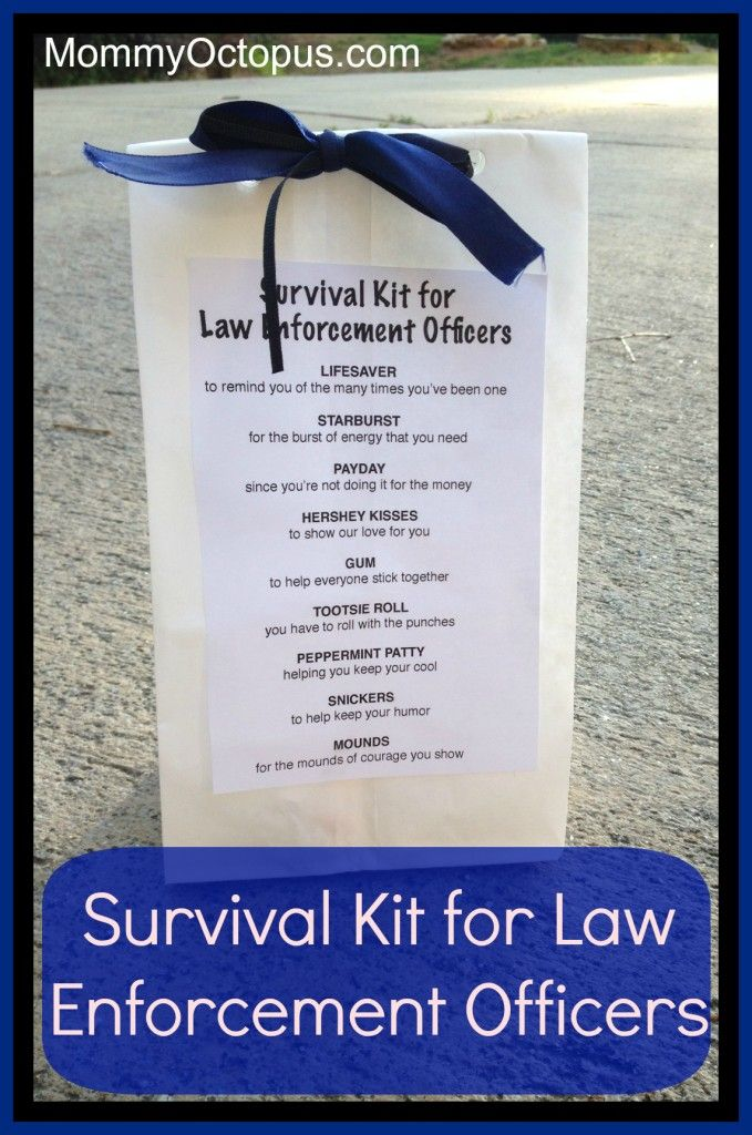 Survival Kit For Law Enforcement Officers Police Sheriff