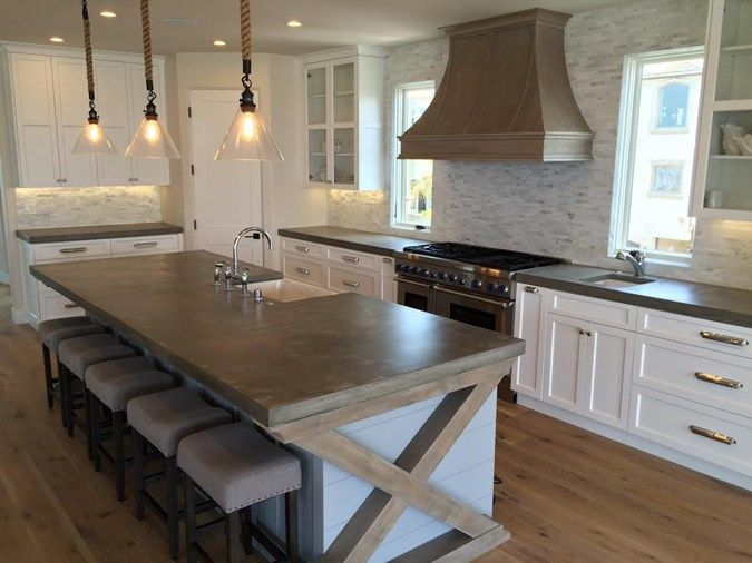 Kitchen Shaped Ideas Concrete Countertops
