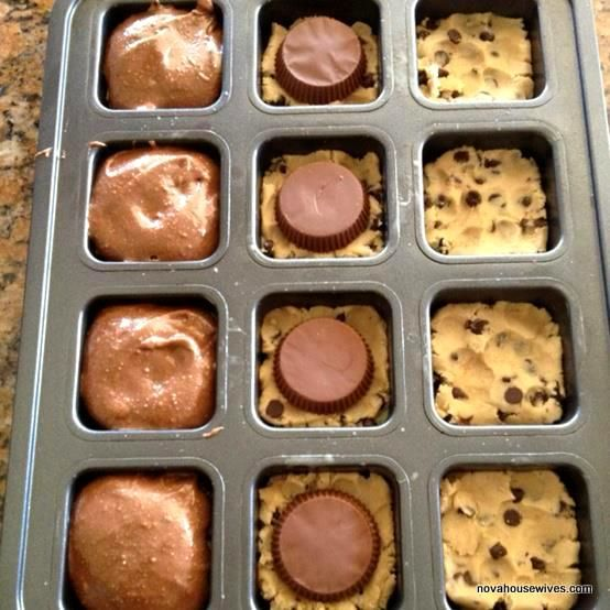 Here is her secret recipe: 1. Into the wells of a muffin tin (or in cupcake papers) flatten a square of store-bought chocolate