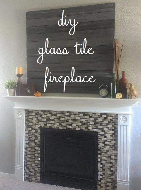 DIY Fireplace Makeover | Glass Mosaic