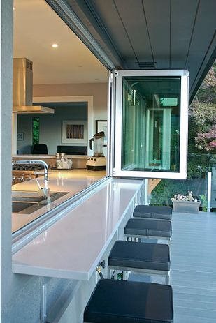 Bring the outdoors IN with these accordion glass windows and doors. | 31 Insanely Clever Remodeling Ideas For Your New Home