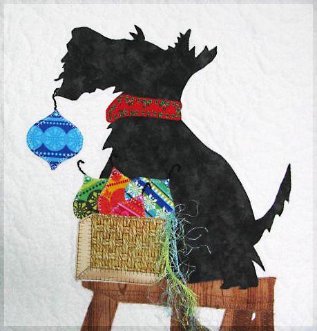 Scottie Christmas Quilt Quilt Patterns Free Scottish