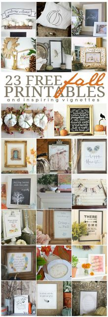 These Free Printables are the perfect way to add little Fall touches to your home this season by Ella Claire.: