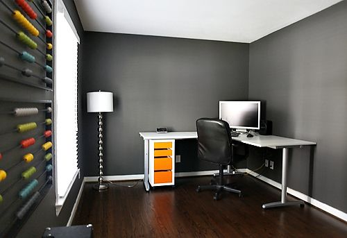 grey walls with dark wood floors like we have good info on office wall colors id=99899