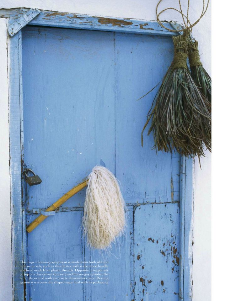 English Country Cottage With A Painted Cornflower Blue