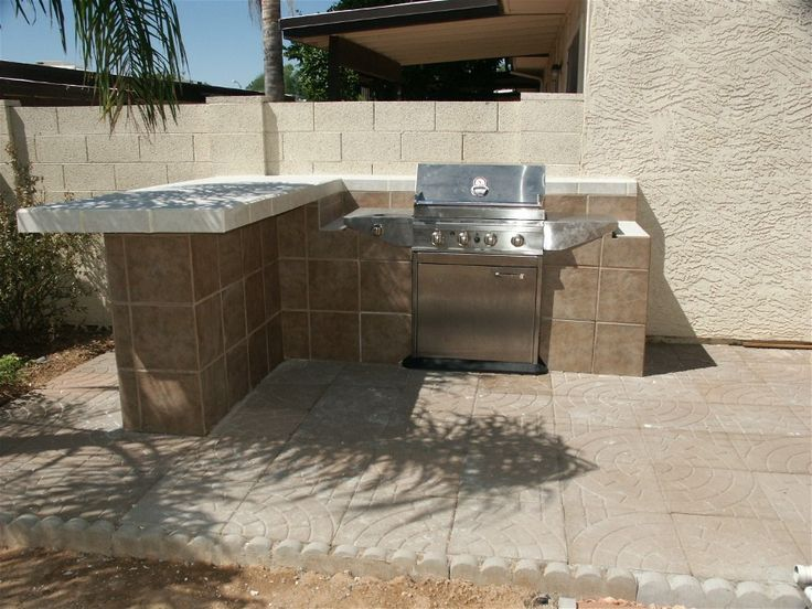17 Best images about Outdoor BBG Designs on Pinterest ... on Backyard Patio Grill Island id=38355
