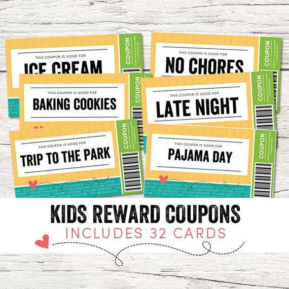 Kids Reward Coupons Would Make A Great Gift For Kids