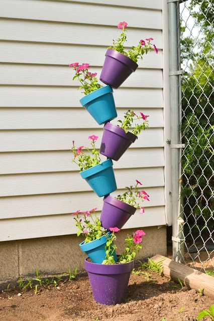 Best 25+ Stacked flower pots ideas on Pinterest