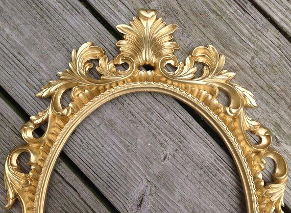Gold Oval Frame Baroque Open Scatter Ornate Shabby Chic