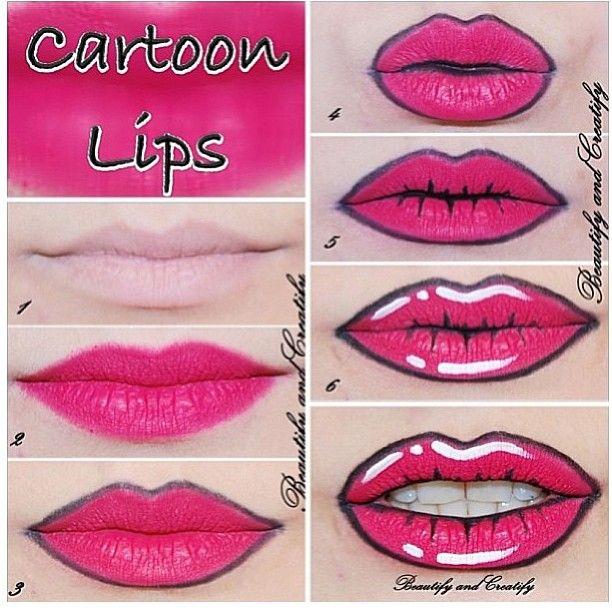 How To: Cartoon Pop Art Lips @Jennifer Milsaps L Milsaps L Milsaps L Milsaps L H