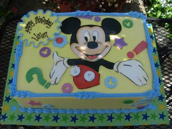 Mickey Mouse First Birthday Sheet Cake Mickey Mouse Club