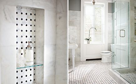 Example For Hall Bath Floor And Possible Niche In Tub Area