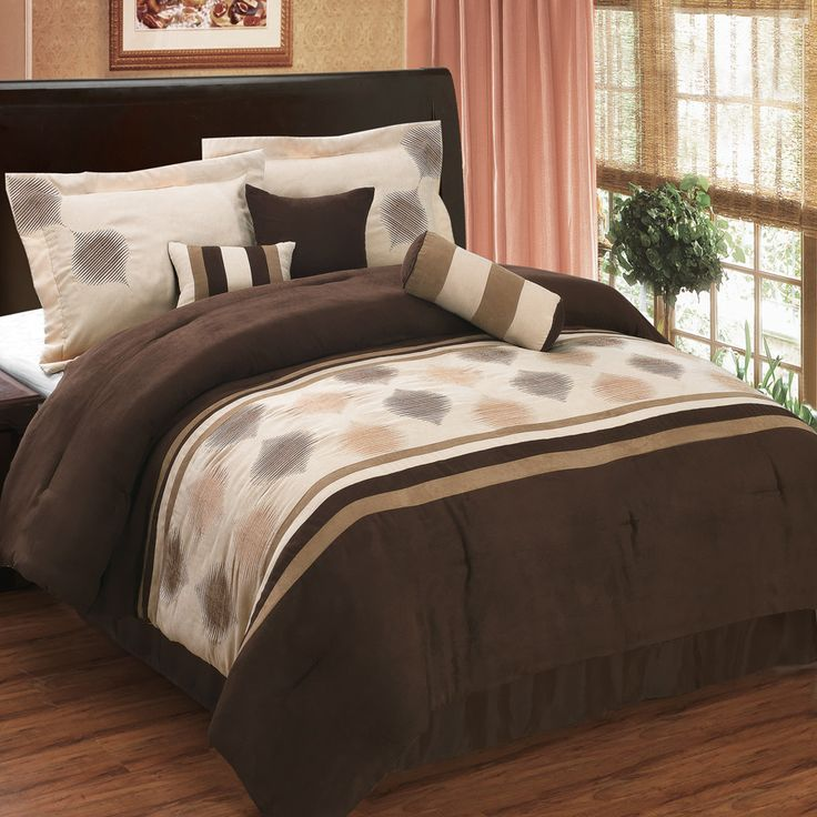 Grace Coffee 11 Piece Micro Suede Bed In A Bag Bed In A