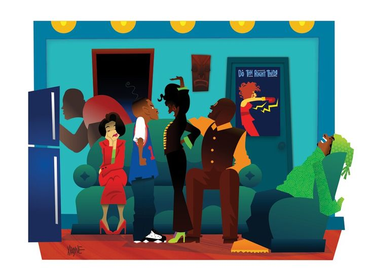 Dope Cartoon House Characters