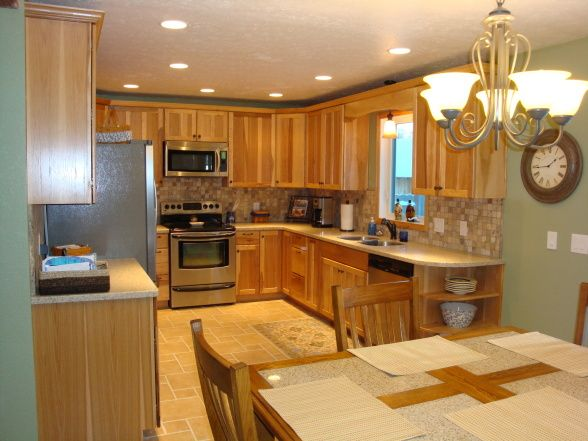 kitchen colors with hickory cabinets kitchen before on beautiful kitchen pictures ideas houzz id=32568