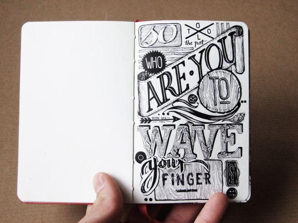 hand lettering in/on my sketchbooks on Behance