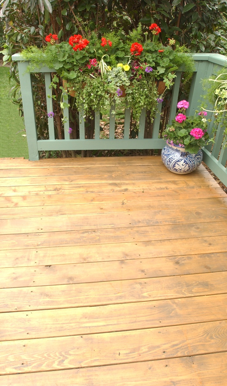 On The Deck We Used Thompson S Water Seal Advanced Wood