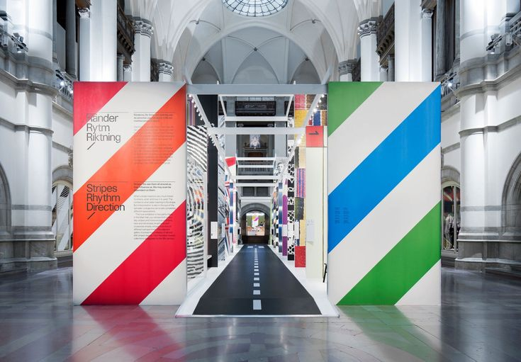 -Stockholm Designabb- Stripes, Rhythm, Direction Nordiska museet wears its stripes with pride, and finds a new direction