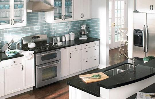78 Best images about Kitchen on Pinterest | Countertops ... on Kitchen Backsplash Black Countertop  id=69805