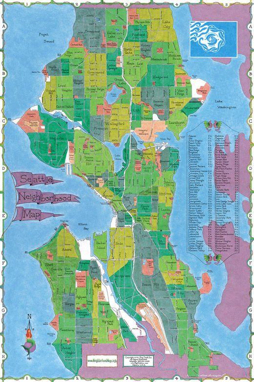 Seattle Neighborhood Map - Map of Seattle Neighborhoods ...