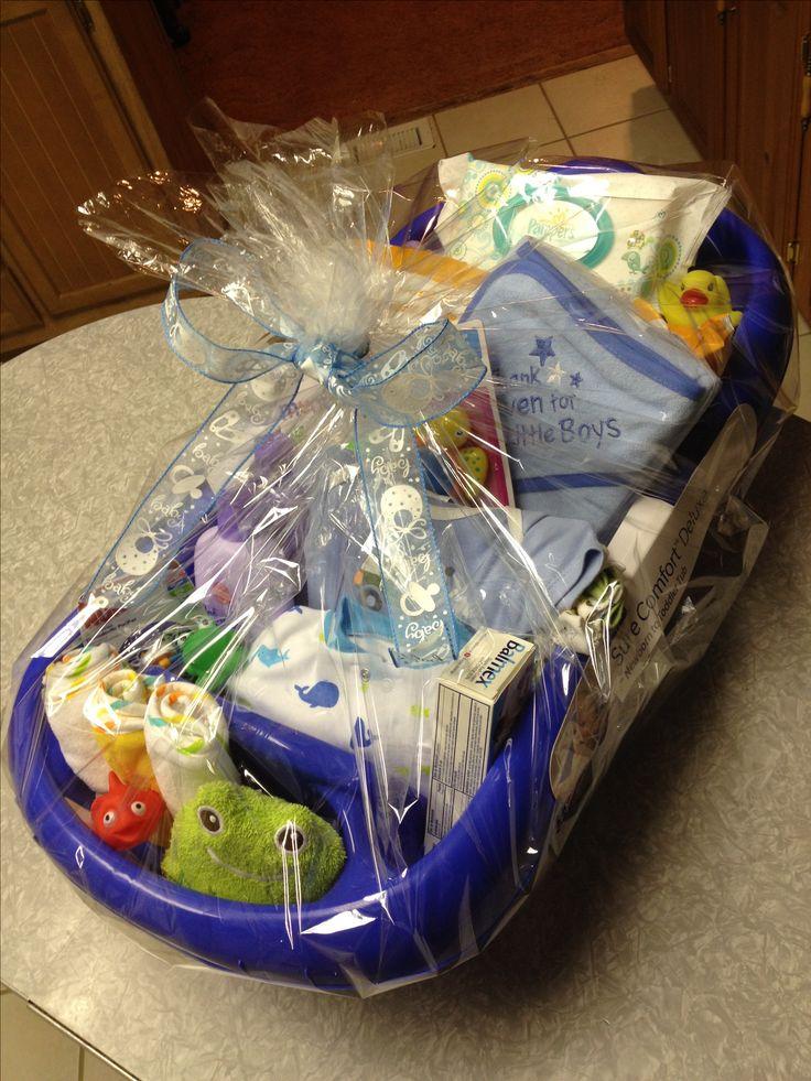 Baby Boy Bathtub Gift Basket Baby Shower Pinterest