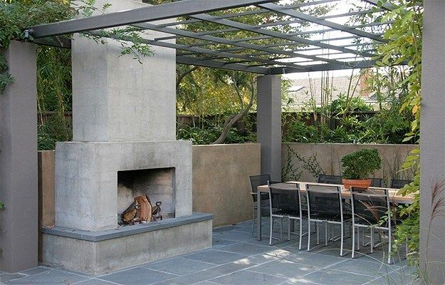 25+ Best Ideas About Concrete Fireplace On Pinterest