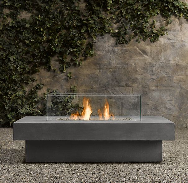 Laguna Concrete Natural Gas FireTable™ - Rectangle | Fire ... on Propane Fire Pit Ace Hardware id=98849