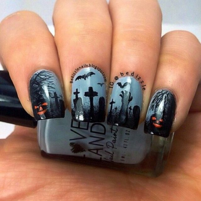 Going to the graveyard this weekend? Here are the nails you'll need!:
