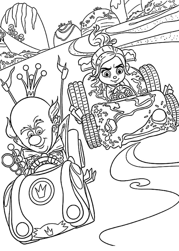 14 best images about coloring pages (wreck it ralph) on